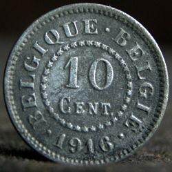 Münze > 10Centimes, 1915-1917 - Belgien  - reverse