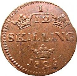 Монета > 1/12скиллинга, 1825 - Швеция  - reverse