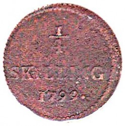 Монета > ¼скилинг, 1799-1800 - Швеция  - reverse