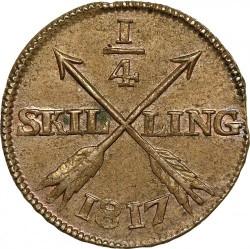 Mynt > ¼skilling, 1817 - Sverige  - reverse