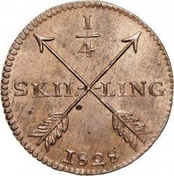 Монета > ¼скилинг, 1819-1830 - Швеция  - reverse