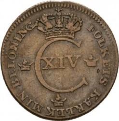 Pièce > ¼skilling, 1819-1830 - Suède  - obverse