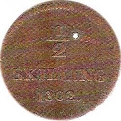 Moneda > ½skilling, 1799-1802 - Suecia  - reverse