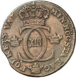 Mynt > ½skilling, 1815-1817 - Sverige  - obverse