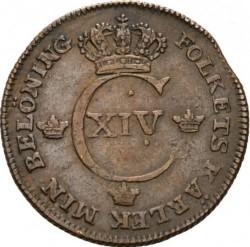 Moneta > ½scellino, 1819-1830 - Svezia  - obverse