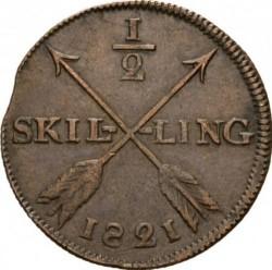 Pièce > ½skilling, 1819-1830 - Suède  - reverse
