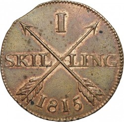 Pièce > 1skilling, 1812-1817 - Suède  - reverse