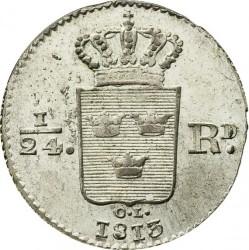 Монета > 1/24риксдалер, 1810-1816 - Швеция  - reverse