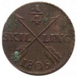 Pièce > ¼skilling, 1802-1808 - Suède  - reverse