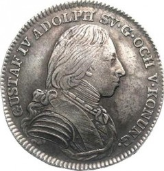 Pièce > ⅙riksdaler, 1800-1809 - Suède  - obverse