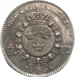 Moneda > ⅙riksdaler, 1800-1809 - Suecia  - reverse