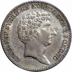 Монета > ⅙риксдалер, 1829 - Швеция  - obverse
