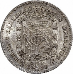 Монета > ⅙риксдалер, 1829 - Швеция  - reverse