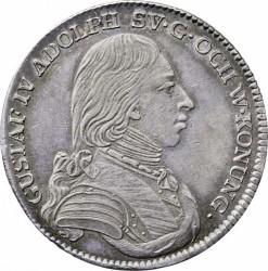 錢幣 > ⅓瑞斯代勒, 1799-1800 - 瑞典  - obverse