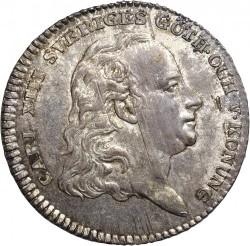 Mynt > ⅓riksdaler, 1813-1814 - Sverige  - obverse