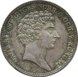 錢幣 > ⅓瑞斯代勒, 1828-1829 - 瑞典  - obverse