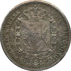 錢幣 > ⅓瑞斯代勒, 1828-1829 - 瑞典  - reverse