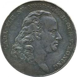 錢幣 > 1瑞斯代勒, 1814-1818 - 瑞典  - obverse