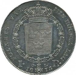 錢幣 > 1瑞斯代勒, 1814-1818 - 瑞典  - reverse