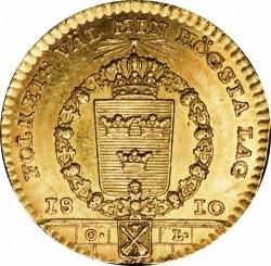 Münze > 1Dukaten, 1810 - Schweden   (Arms of province of Dalarna below chain) - reverse
