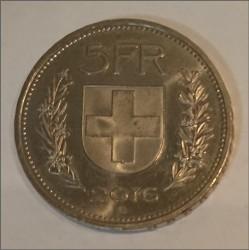 Moneta > 5franków, 2016 - Szwajcaria  - reverse