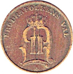 Münze > 1Öre, 1874-1877 - Schweden   - obverse