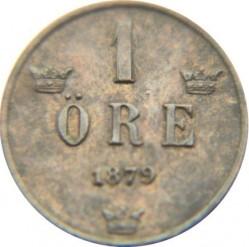 Münze > 1Öre, 1877-1880 - Schweden   - reverse