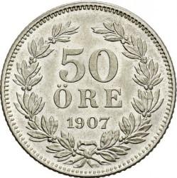 Münze > 50Öre, 1906-1907 - Schweden   - reverse