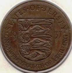 Moeda > 1/24shilling, 1937-1947 - Jersey  - reverse