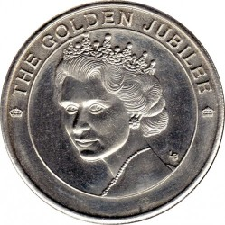 Moneta > 5corone, 2002 - Turks e Caicos (Isole)  (50° anniversario - Ascesa della regina Elisabetta II ) - reverse