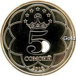Монета > 5сомони, 2018 - Таджикистан  - reverse