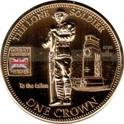 Moneta > 1korona, 2010 - Tristan da Cunha  (Bohaterowie wielkiej Brytanii - Samotny żołnierz) - reverse