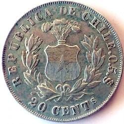 Moneta > 20centavos, 1879-1893 - Cile  - reverse
