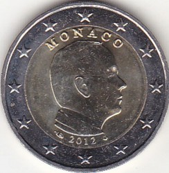 Moneda > 2euros, 2009-2018 - Mónaco  - reverse