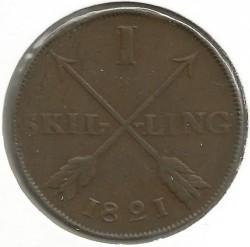 سکه > 1اسکیلینگ, 1819-1830 - سوئد  - reverse