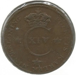 Monedă > 1skilling, 1819-1830 - Suedia  - reverse