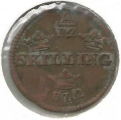Münze > 1/12Skilling, 1812 - Schweden   - obverse