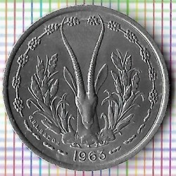 Moneta > 1 franco, 1962-1963 - Africa Occidentale (BCEAO)  - reverse