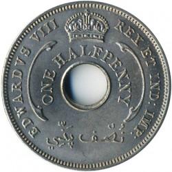 Moneda > ½penny, 1936 - Àfrica Occidental Britànica  (Eduard VIII) - obverse