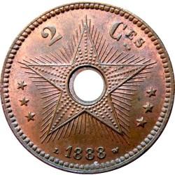 Монета > 2сантима, 1887-1888 - Вільна держава Конго  - reverse