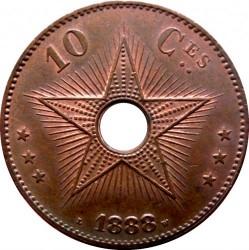 Pièce > 10centimes, 1887-1894 - État indépendant du Congo  - reverse