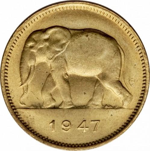 2 Franken 1946 1947 Belgisch Kongo Münzen Wert Ucoinnet