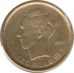 Монета > 5франков, 1936-1937 - Бельгийское Конго  - obverse