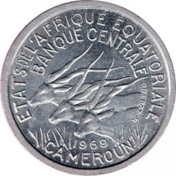 Coin > 1franc, 1969-1971 - Equatorial African States  - obverse