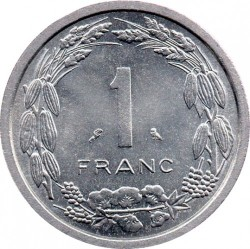 Coin > 1franc, 1969-1971 - Equatorial African States  - reverse