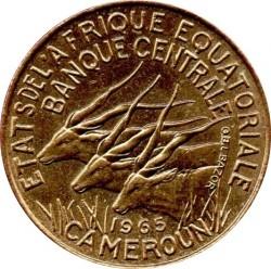 سکه > 5فرانک, 1965-1972 - ایالات استوایی آفریقا  - obverse