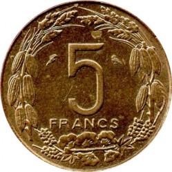 سکه > 5فرانک, 1965-1972 - ایالات استوایی آفریقا  - reverse