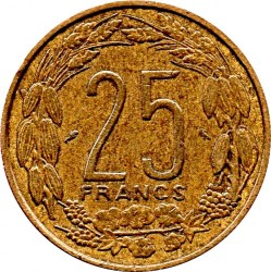 Coin > 25francs, 1962 - Equatorial African States  - reverse