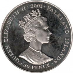 Moneta > 50pence, 2001 - Falkland (Isole)  (History of British coins - Henry VII of England) - obverse