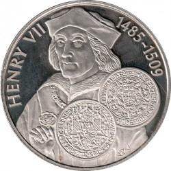 Moneta > 50pence, 2001 - Falkland (Isole)  (History of British coins - Henry VII of England) - reverse